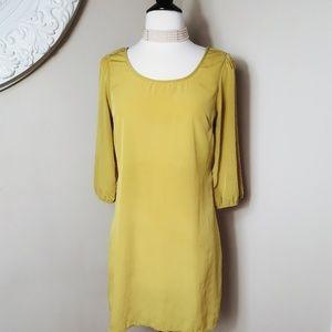Half Sleeve V back Dress